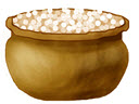 Gold pot of manna